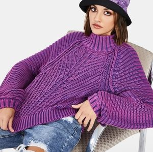 Free People Orchid Sweetheart Moc Neck Sweater NWT